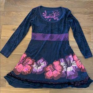 Desigual Floral Long Sleeve Dress